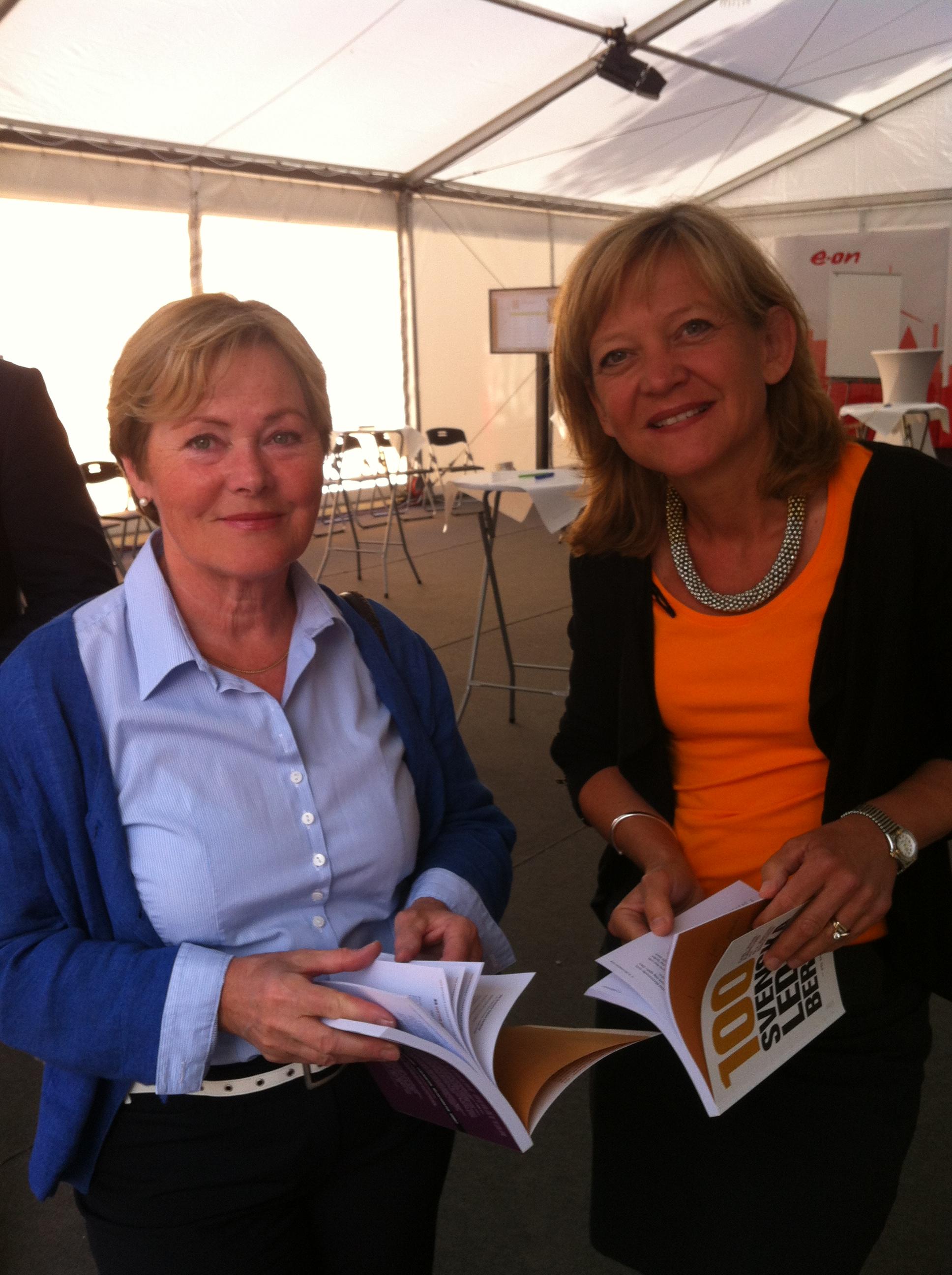 Anitra Steen och Karin Jarl